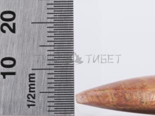 Скребок гуаша Фучжан из камня бянь, 10x3.5 см