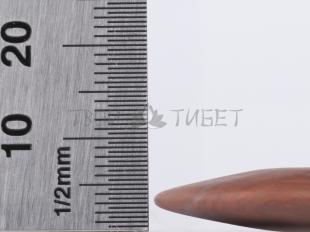 Гребень-скребок гуаша Фучжан из камня бянь, 95x65 мм