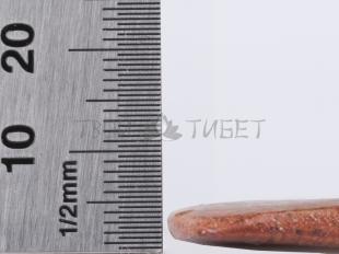 Скребок гуаша Фучжан из камня бянь, 10x6 см