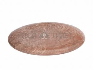 Круглый скребок гуаша из бянь 7x1,2 см